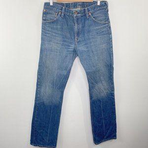 Levi's 507 Light Wash Blue Slim Bootcut Jeans 33